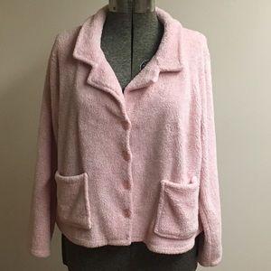 Croft & Barrow Intimates Pink Bed Jacket